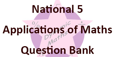 National 5 Applications of Maths Question Bank