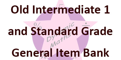 Old Intermediate 1 and Standard Grade General Question Bank